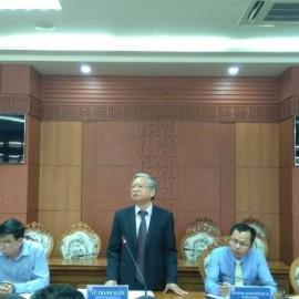 NGƯT.TS. Vũ Thanh Xuân, Phó Giám đốc Học viện Hành chính Quốc gia làm việc với tỉnh Quảng Nam