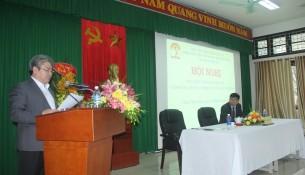 TS. Đặng Xuân Hoan, Bí thư Đảng ủy, Giám đốc Học viện Hành chính Quốc gia phát biểu chỉ đạo Hội nghị