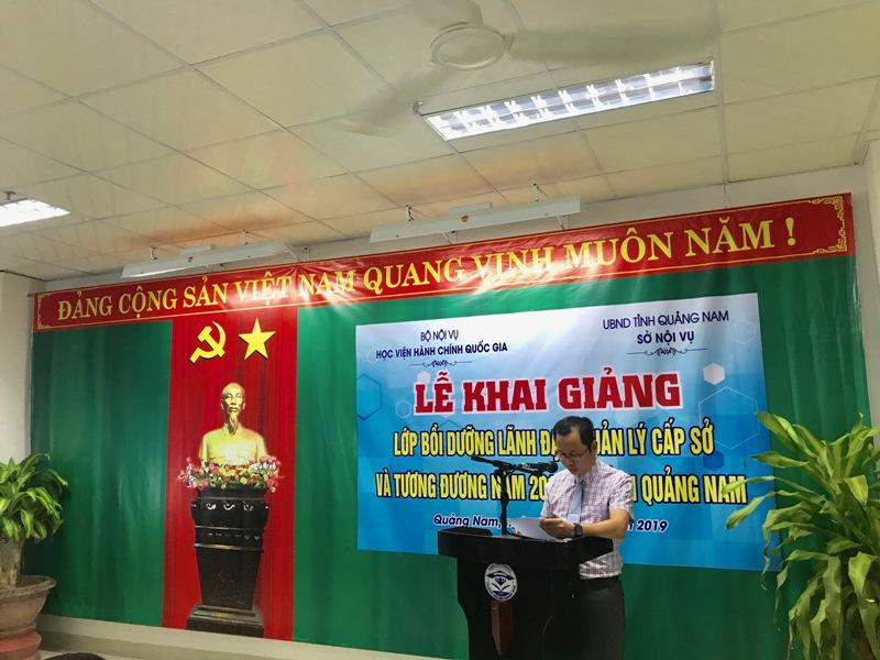 TS.Trần Hải Định, Phòng Quản lý đào tạo, bồi dưỡng công bố các Quyết định mở lớp