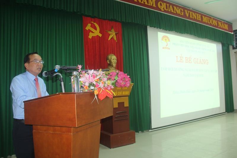 Đại diện lớp học viên Nguyễn Thanh phát biểu