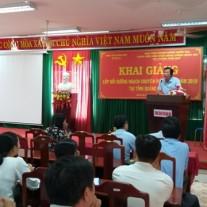 Đồng chí Đoàn Dụng, Giám đốc Sở Nội vụ tỉnh Quảng Ngãi phát biểu tại Lễ khai giảng