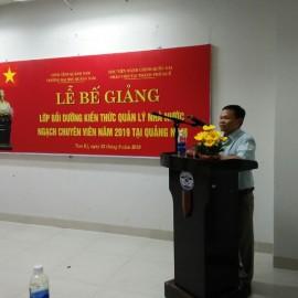 Đại diện lớp học viên Nguyễn Trung Nam phát biểu
