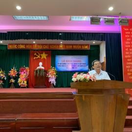 Đồng chí Võ Đức Thơ,Tinh ủy viên, Giám đốc Sở Nội vụ tỉnh Phú Yên phát biểu khai giảng khóa học