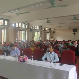 Toàn cảnh buổi khai mạc kỳ thi tuyển sinh trình độ Thạc sĩ tại điểm thi Phân viện Huế