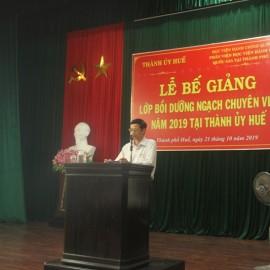Đồng chí Nguyễn Xuân Hòa, Phó Bí thư Thường trực Thành ủy Huế phát biểu