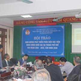ThS.Đặng Công Minh Tâm, Trưởng Phòng Tài vụ - Kế toán, Phân viện Huế Báo cáo tham luận tại Hội thảo
