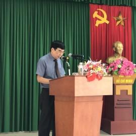 TS. Ngô Văn Trân - Phó Giám đốc Thường trực Phân viện Huế phát biểu bế giảng khóa học