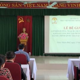 đồng chí Nguyễn Thái Sơn - Ủy viên Ban Thường vụ Tỉnh ủy, Trưởng Ban Tuyên giáo Tỉnh ủy tỉnh Thừa Thiên Huế phát biểu tại buổi lễ