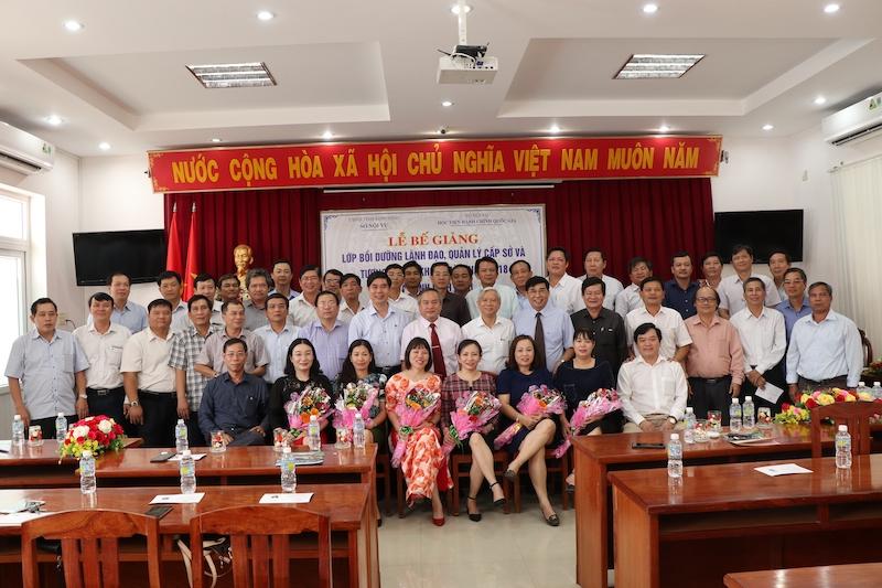 Bế giảng lớp Bồi dưỡng lãnh đạo, quản lý cấp Sở và tương đương năm 2018 tại tỉnh Bình Định (ngày 09/3/2019)