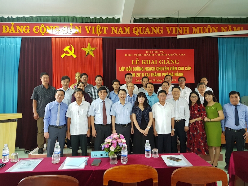 Khai giảng lớp Bồi dưỡng ngạch Chuyên viên cao cấp năm 2018 tại thành phố Đà Nẵng (ngày 20/10/2018)