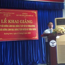 Đồng chí Trần Anh Tuấn, Giám đốc Sở Nội vụ tỉnh Quảng Nam phát biểu