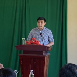 PGS.TS. Nguyễn Hoàng Hiển - Phó Giám đốc Phân viện Huế phát biểu khai mạc kỳ thi tốt nghiệp lớp Đại học Hành chính KH15-TC111