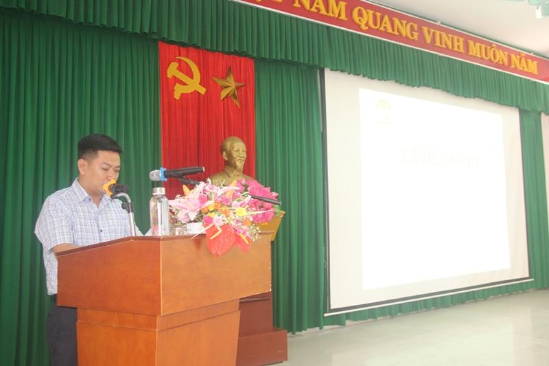 Đại diện lớp học viên Đỗ Thành Đô phát biểu