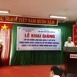 Đồng chí Nguyễn Thái Hiệp, Phó Giám đốc Sở Nội vụ tỉnh Quảng Ngãi phát biểu