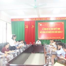 ThS. Trần Thị Thúy Loan, thay mặt Phòng Tổ chức - Hành chính Báo cáo tổng kết 8 tháng đầu năm và triển khai một số nội dung trọng tâm 4 tháng cuối năm 2020