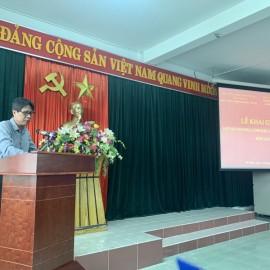 TS.Vũ Anh Tuấn, Phó Giám đốc Học viện Chính trị khu vực III, thành phố Đà Nẵng phát biểu tại lễ Khai giảng