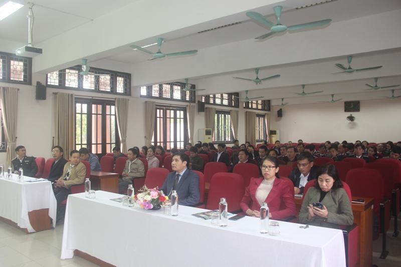 Toàn cảnh buổi Lễ Khai giảng lớp Bồi dưỡng lãnh đạo, quản lý cấp Phòng khóa III năm 2020  tại Phân viện Học viện Hành chính Quốc gia tại thành phố Huế