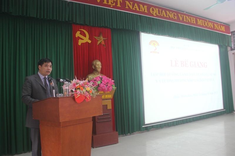 PGS.TS. Nguyễn Hoàng Hiển - Phó Giám đốc Phân viện tại TP.Huế phát biểu Bế giảng khóa học