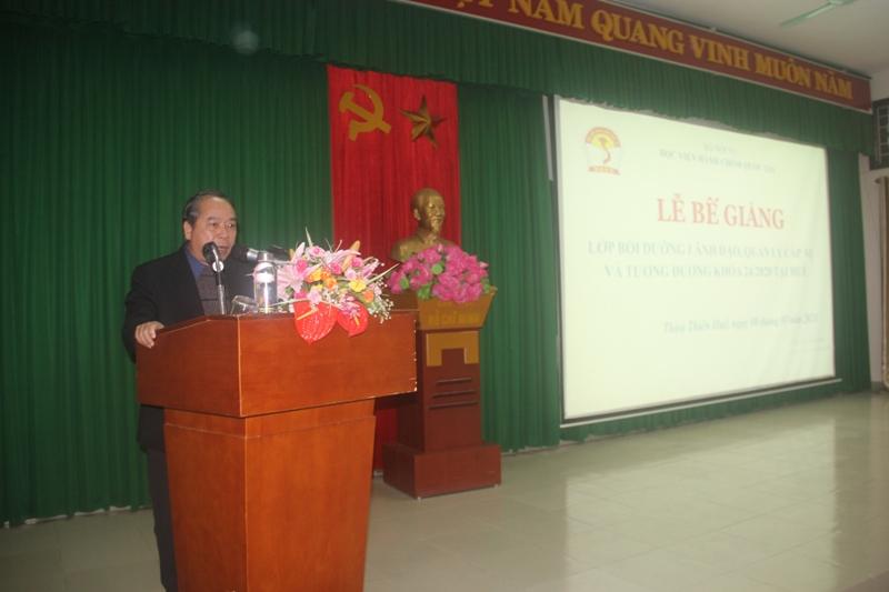 Học viên Nguyễn Văn Bường - Đại diện cho các học viên tri ân tại Lễ Bế giảng