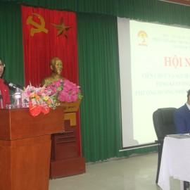 ThS. Mai Thị Phương Dung - Trưởng phòng Quản lý đào tạo, bồi dưỡng phát biểu tại Hội nghị