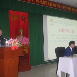ThS. Lê Văn Mão - Trưởng Bộ môn Pháp luật, Hành chính và Tổ chức phát biểu tại Hội nghị