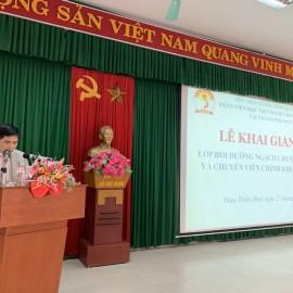 PGS.TS. Nguyễn Hoàng Hiển - Phó Giám đốc Phân viện Học viện tại TP.Huế   phát biểu khai giảng khóa học