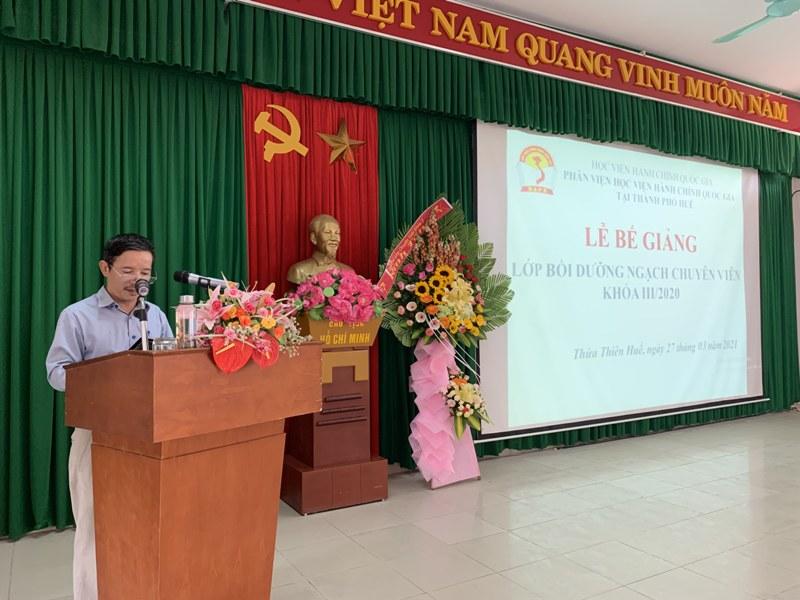 Học viên Võ Văn Thông – Đại diện cho các học viên tri ân tại Lễ Bế giảng