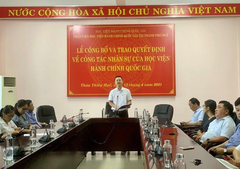 ThS. Lê Văn Mão – Trưởng Bộ Môn Pháp luật hành chính và Tổ chức phát biểu