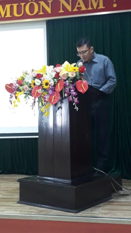 Đồng chí Đặng Văn Mạnh - Chánh Văn phòng Tòa án nhân dân  thành phố Đà Nẵng, đại diện cho học viên khóa học phát biểu tri ân