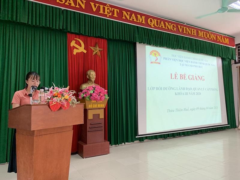ThS. Nguyễn Thị Út Phượng - Chuyên viên quản lý lớp, báo cáo tổng kết khóa học