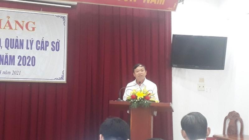 Đồng chí Lê Ngọc An – Phó Chánh Văn phòng UBND tỉnh  Đại diện cho các học viên tri ân tại Lễ Bế giảng