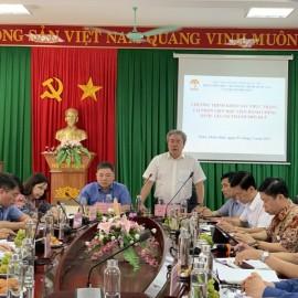 TS. Đặng Xuân Hoan – Bí thư Đảng ủy, Giám đốc Học viện Hành chính Quốc gia  phát biểu tại buổi làm việc