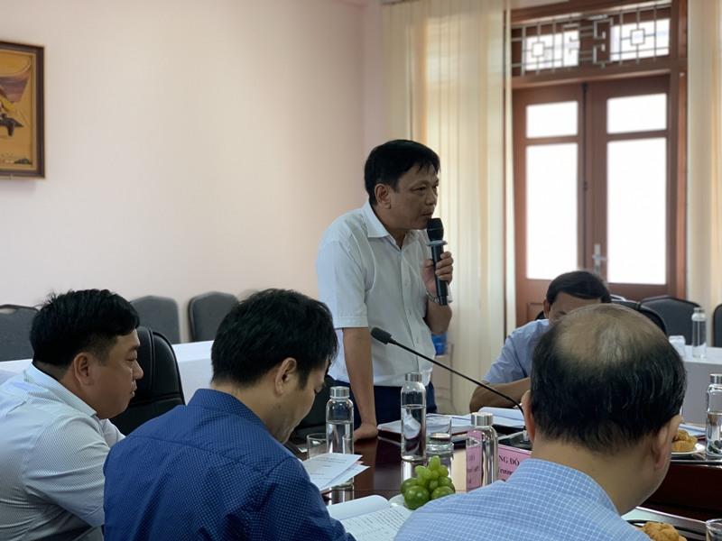 ThS.Đặng Công Minh Tâm – Trưởng phòng Tài vụ - Kế toán, Phân viện Học viện tại TP.Huế phát biểu tại buổi làm việc