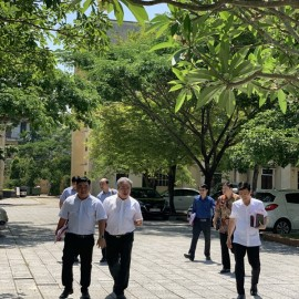 Giám đốc Học viện cùng Đoàn Khảo sát kiểm tra khuôn viên Phân viện Học viện tại TP.Huế