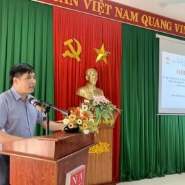 PGS.TS. Nguyễn Hoàng Hiển - Đảng ủy viên, Giám đốc Phân viện Học viện tại TP.Huế  phát biểu chỉ đạo tại Hội nghị