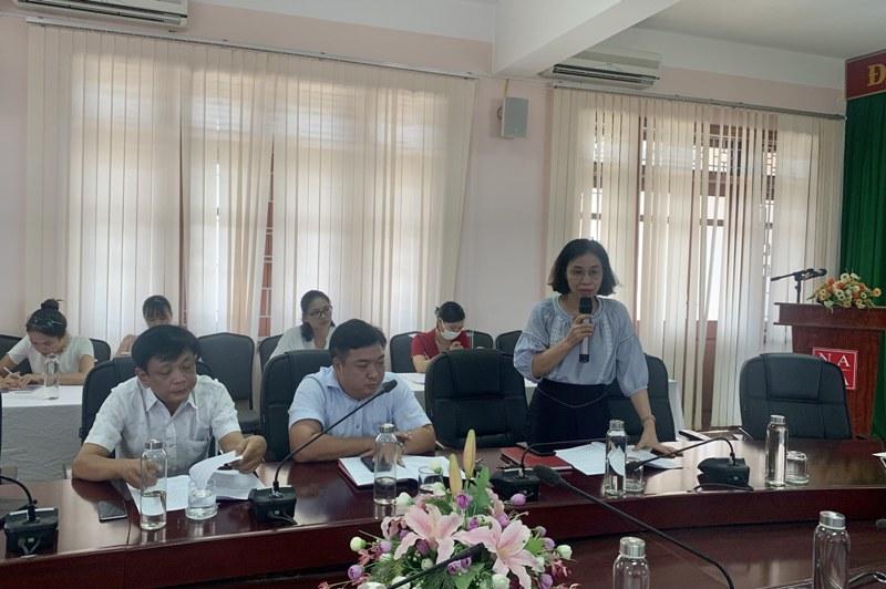 ThS. Trịnh Thị Phúc – Phó Trưởng phòng NCKH và HTQT phát biểu tại Hội nghị