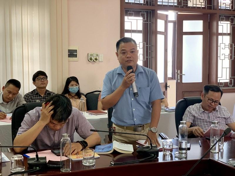 ThS. Nguyễn Đình Quý – Phòng NN-TH và TT-TV phát biểu tại Hội nghị
