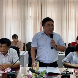 ThS. Lê Văn Lộc – Trưởng phòng Quản trị phát biểu tại Hội nghị