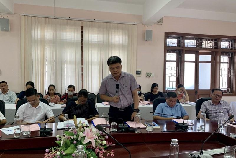 TS. Vũ Hoàng Mạnh Trung – Giảng viên Bộ môn Quản lý nhà nước về ngành, lĩnh vực  phát biểu tại Hội nghị