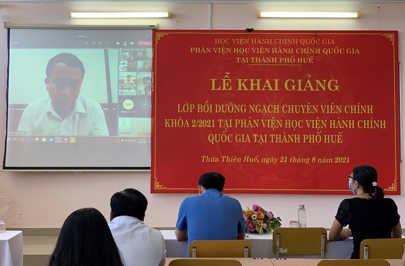 Đ/c Nguyễn Xuân Thành – Đại diện cho các học viên phát biểu tại Lễ Khai giảng