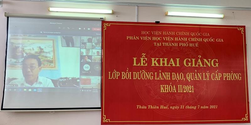 Đồng chí Phan Xuân Thi – Đại diện cho các học viên phát biểu tại Lễ Khai giảng
