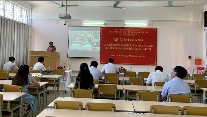 Toàn cảnh buổi Lễ Khai giảng tại Phân viện Học viện tại TP.Huế