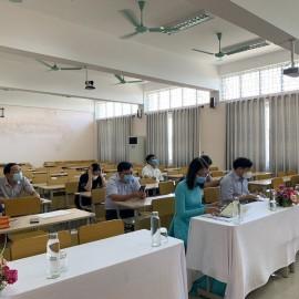 Các đại biểu tham dự buổi Lễ tại các điểm cầu Phân viện Học viện tại TP.Huế
