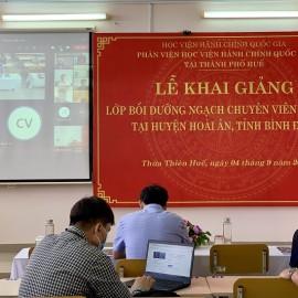 Đ/c Cao Minh Vũ – Đại diện cho các học viên phát biểu tại Lễ khai giảng