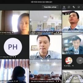 TS. Lê Thị Minh Phượng – Khoa Quản lý nhà nước về Kinh tế và Tài chính công,  Học viện Hành chính Quốc gia phát biểu tham luận tại điểm cầu trực tuyến