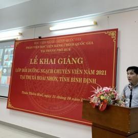 PGS.TS. Nguyễn Hoàng Hiển - Giám đốc Phân viện Học viện tại TP.Huế  phát biểu khai giảng khóa học