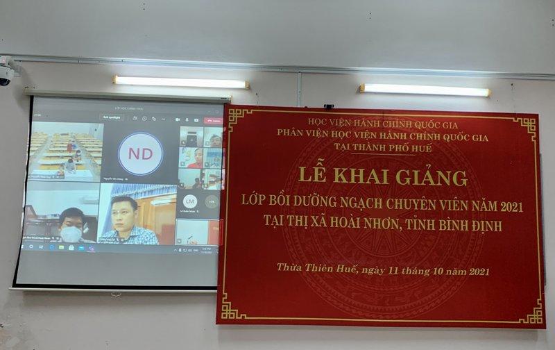 Đ/c Nguyễn Văn Dũng - Đại diện cho các học viên phát biểu tại Lễ khai giảng
