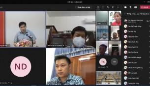 Các đại biểu và học viên tham dự tại các điểm cầu trực tuyến
