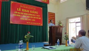 TS. Nguyễn Đăng Quế phát biểu tại Khai giảng