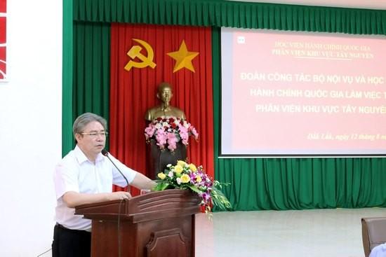 TS. Đặng Xuân Hoan - Giám đốc Học viện Hành chính Quốc gia phát biểu tại buổi lễ